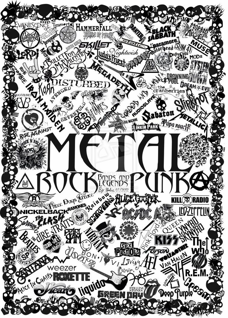 metal band art metal rock and punk band logos by irebic