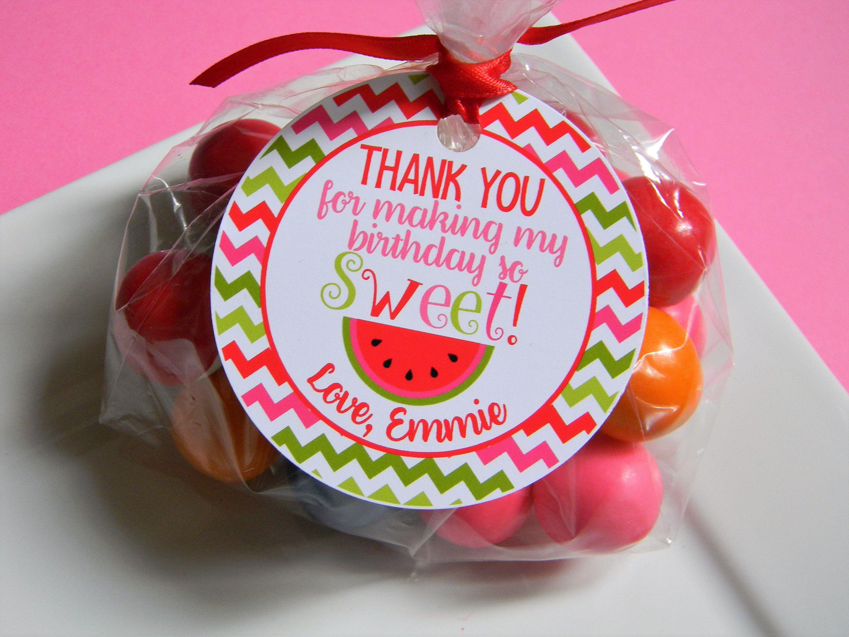 Watermelon Treat Tags, Watermelon Favor Tags, Watermelon Thank You ...