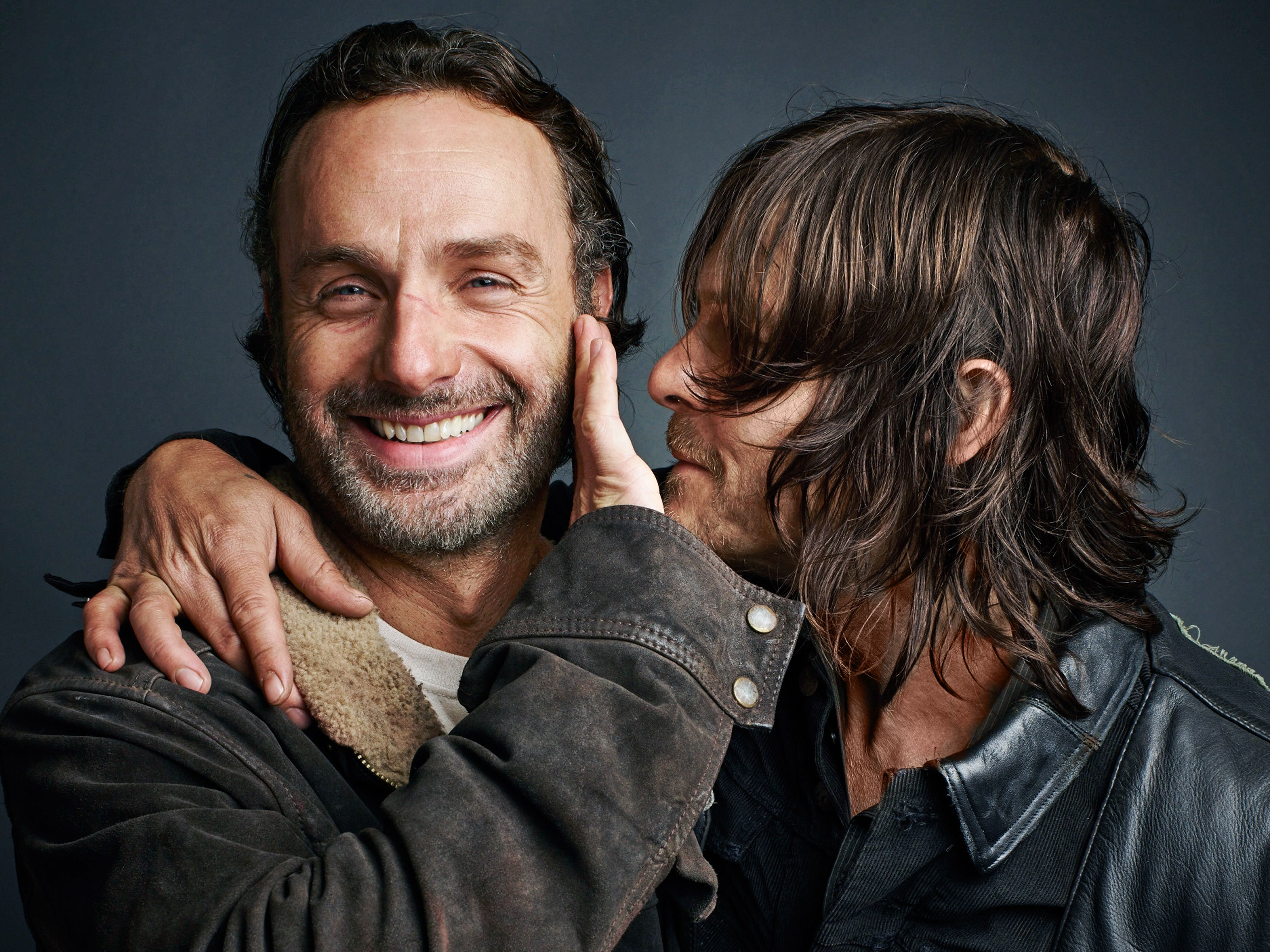 andrew lincoln & norman reedus, tv guide magazine | the walking