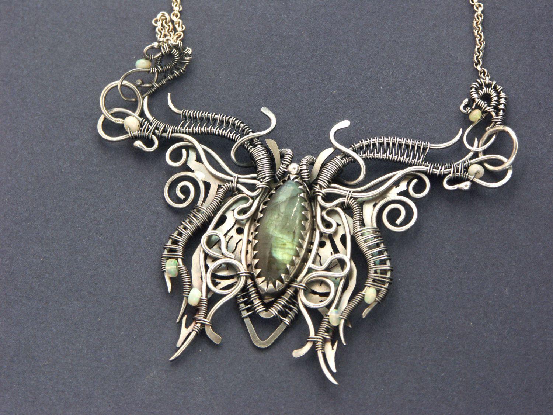 Pin von Anka Petrova auf Wire necklace. | Pinterest | Silberschmuck