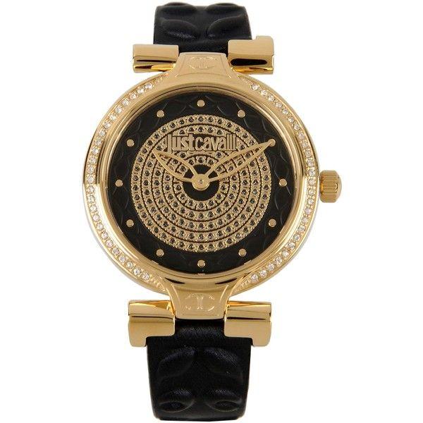 Just Cavalli Wrist Watch featuring polyvore, women's fashion, jewelry, watches, black, just cavalli watches, just cavalli jewelry and just cavalli