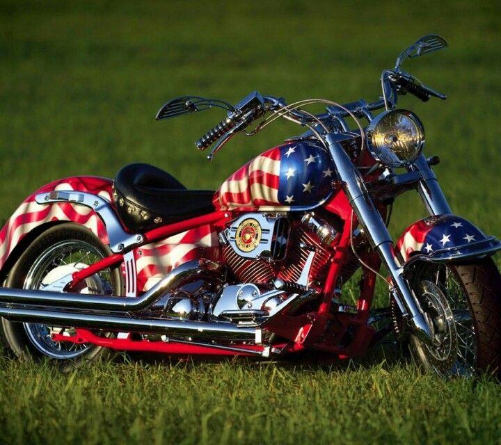 usmc chopper patriotic motorcycle american flag harley davidson pinterest usmc. Black Bedroom Furniture Sets. Home Design Ideas