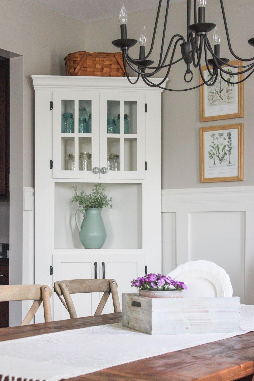 Diy Farmhouse Corner Cabinet Dining Room Corner Country House