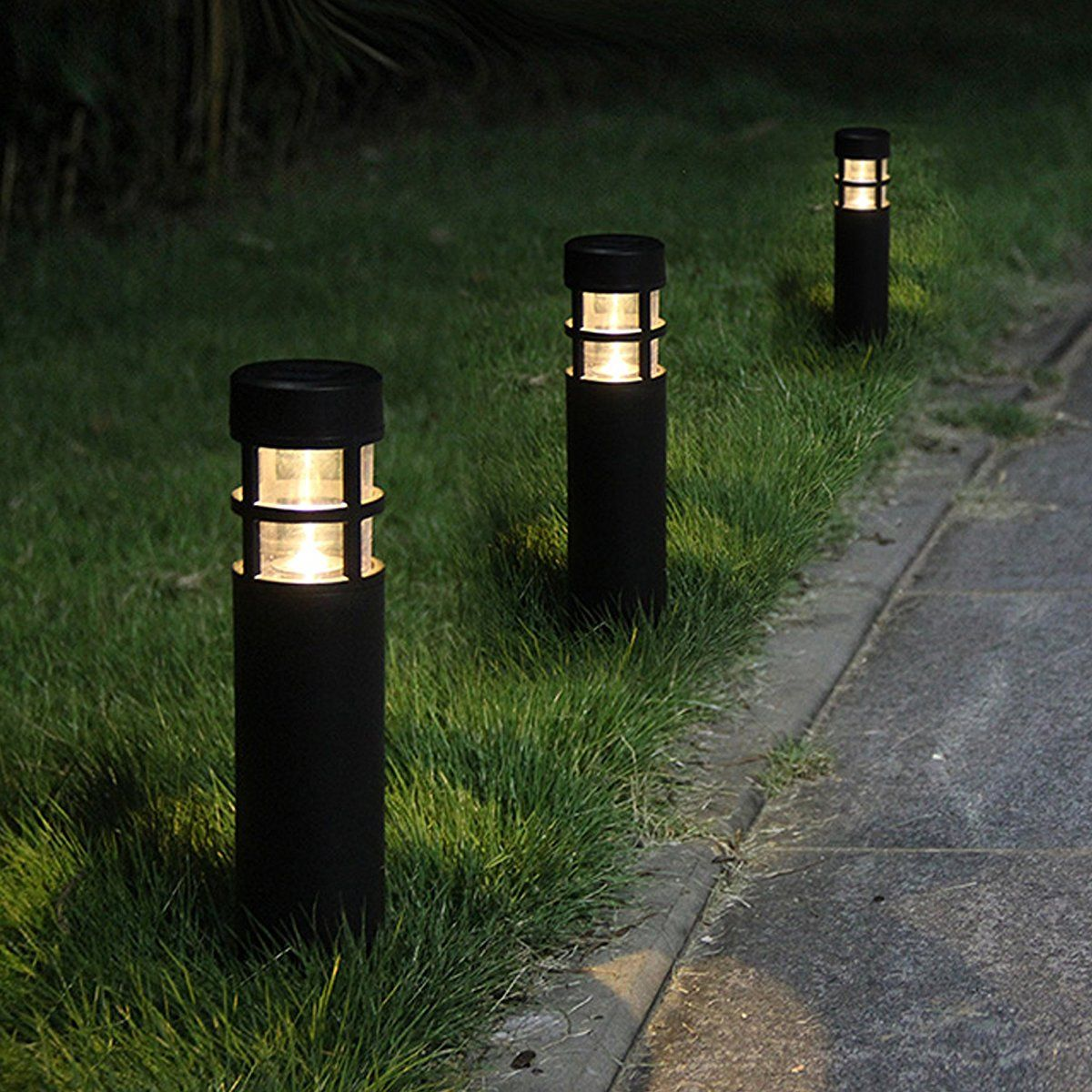 Voona Solar Bollard Lights Outdoor 6