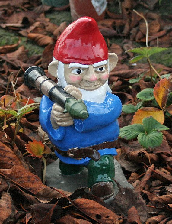 Lovely Combat Garden Gnome With Rocket Launcher