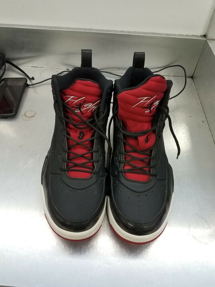 7ee0a44e9dc Air Jordan Rising High 2 Black/Gym Red White 844065-001 Sz8.5 P5/N529  #fashion #clothing #shoes #accessories #mensshoes #athleticshoes (ebay link)