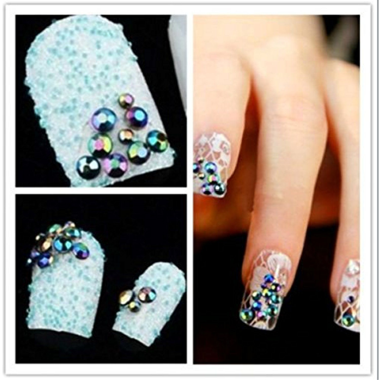 Hot Sale Nail Art Wheel Crystal Glitter Rhinestone Gem Accessories ...