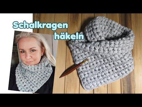 Photo of Häkelkragen im V Puff Stitch-Muster, Kragenschal, Schal für Anfänger