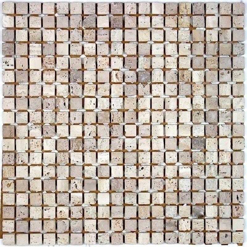 Mosaique en pierre et carrelage pierre pour salle de bain douche et - mosaique rose salle de bain