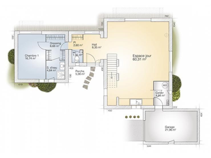 Plans De Maison : Rdc Du Modèle La Villa : Maison Moderne À Étage De