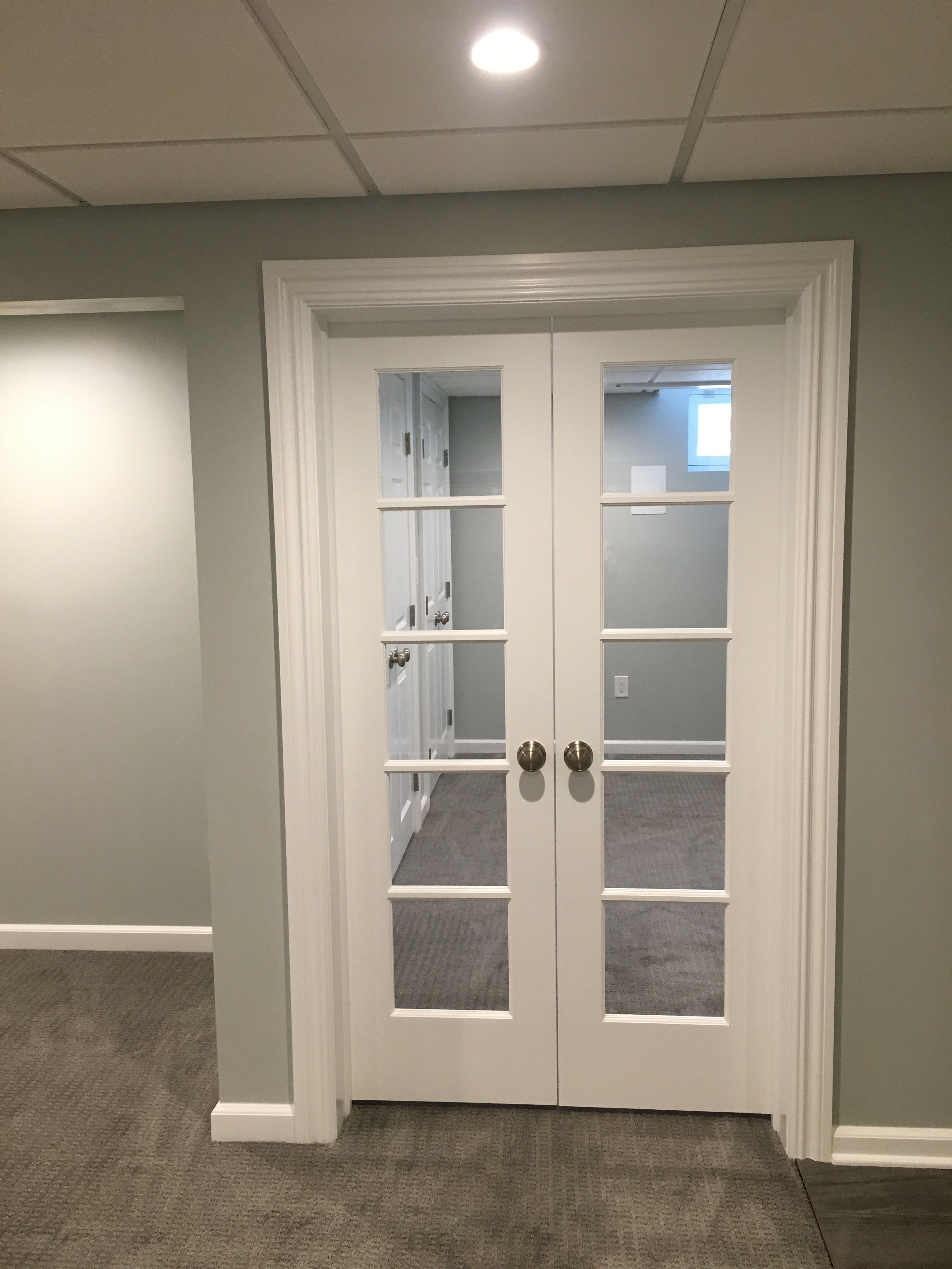 Basement Study Room: Basement Remodel French Doors To Study