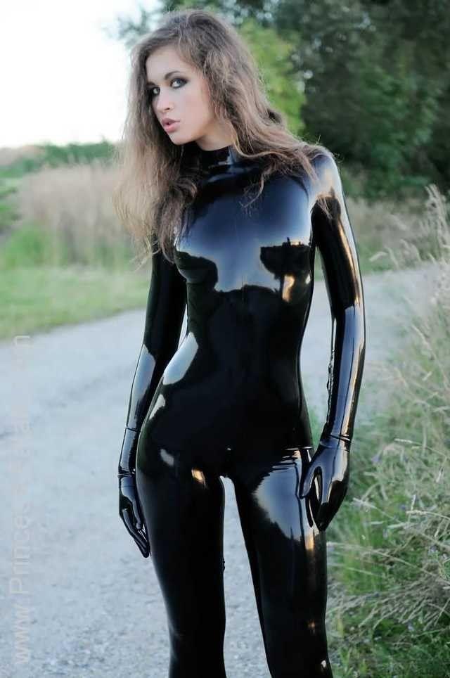 Leather cosplay nude — img 5