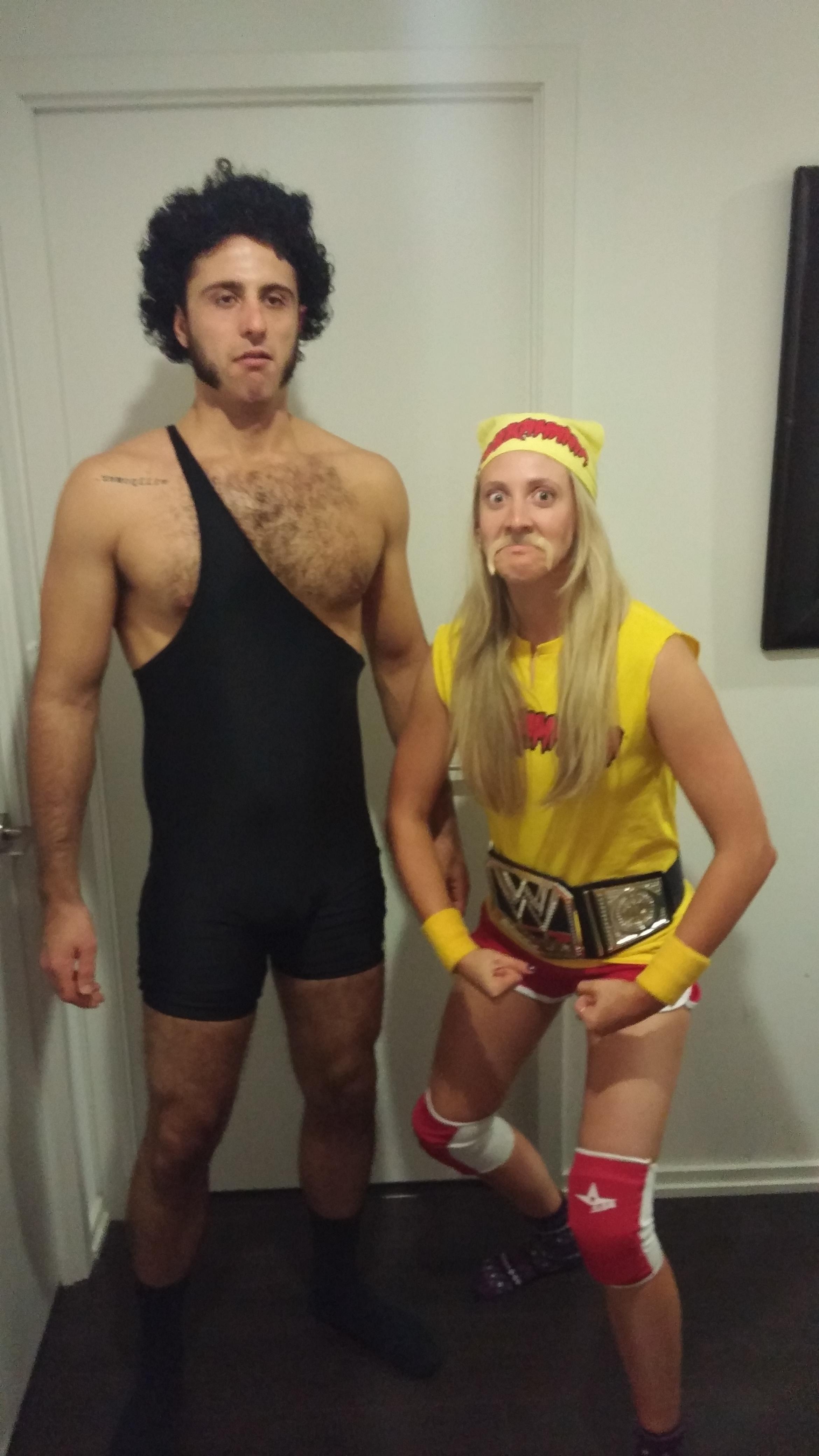 Hulk Hogan and Andre the Giant - post | Hulk hogan costume, Blonde ...