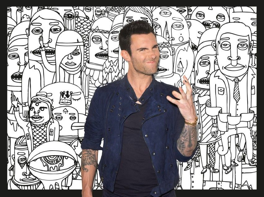 eatenbytheplague:    Adam Levine in the booklet from Maroon 5's newest album, Overexposed
