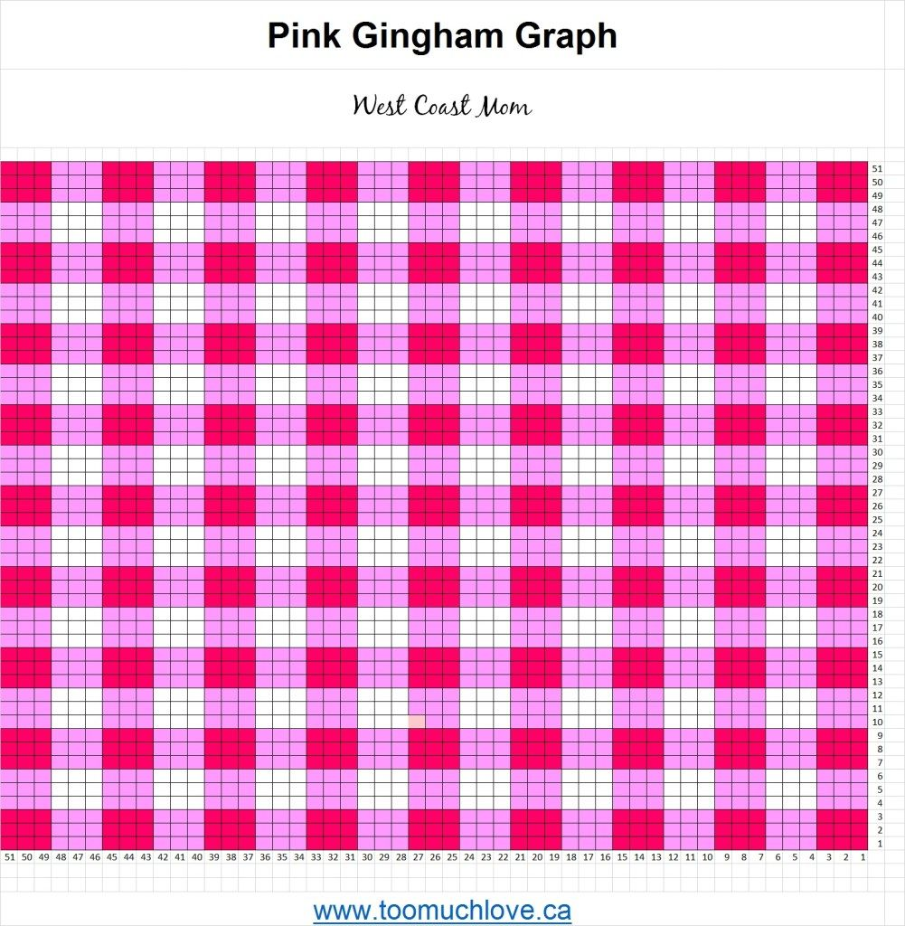 How to Make a Gingham Baby Blanket Using C2C Crochet #c2cbabyblanket