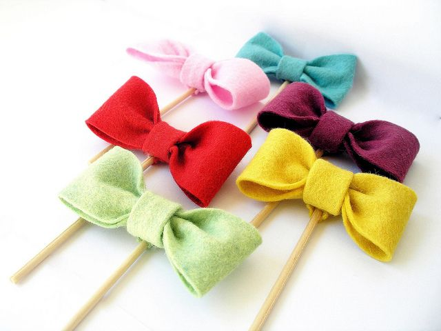 felt cupcake bowties. cute for a little girl party or baby ...
