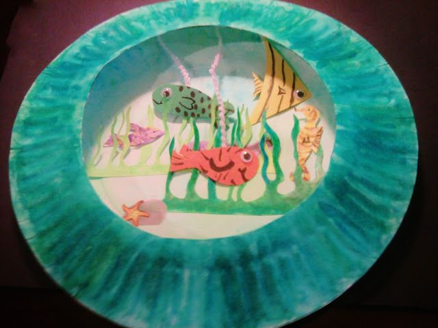 Paper plate aquarium and fish pet theme Lyons Pegram & How to make an aquarium (for preschoolers) has some links to some ...