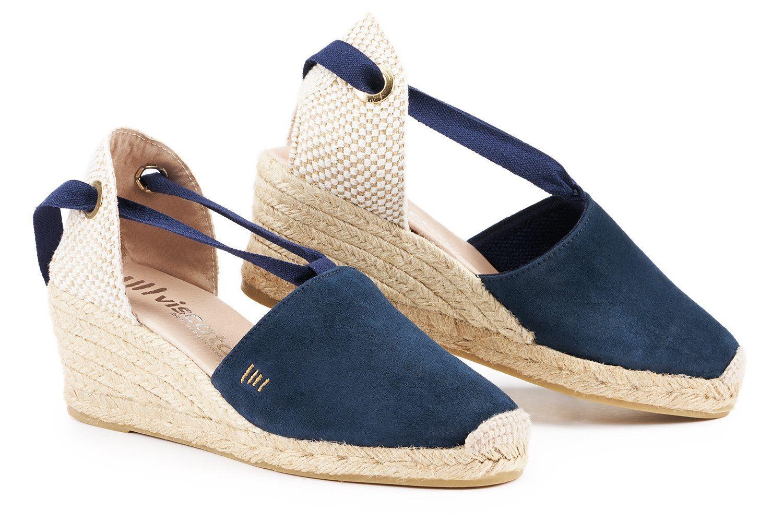 43c1ef1134c Fosca Suede Wedges - Navy Blue in 2019 | shoes | Espadrilles, Wedges ...