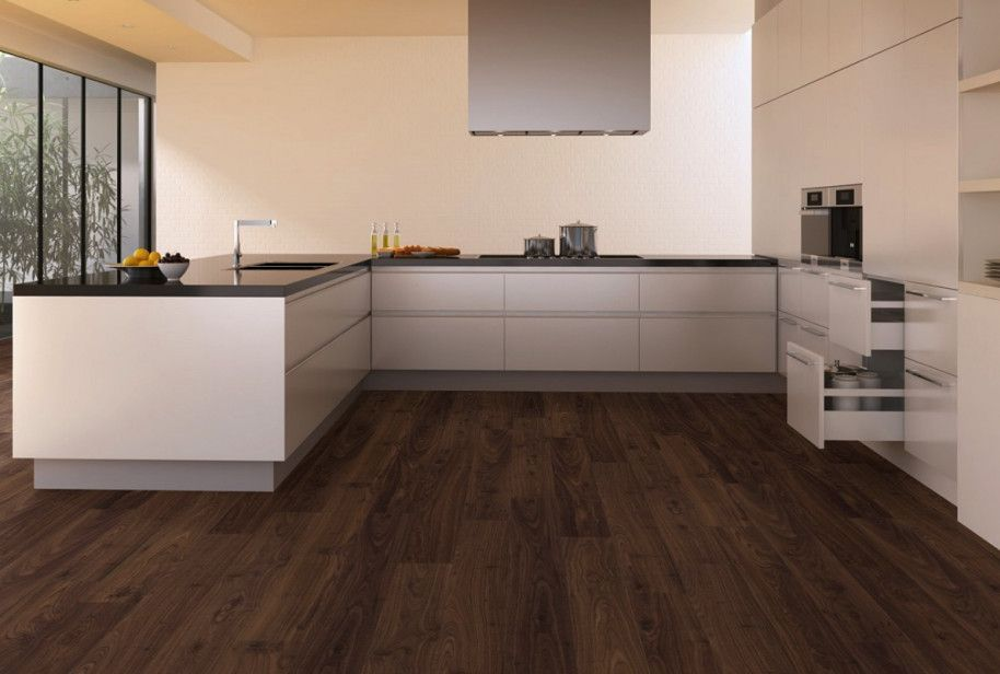 dark wood floor kitchen. hardwood floor and cabinets combination  Wood Floors Beautiful 4174 Kitchen Design With Dark