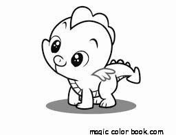 baby dragon coloring pages online free
