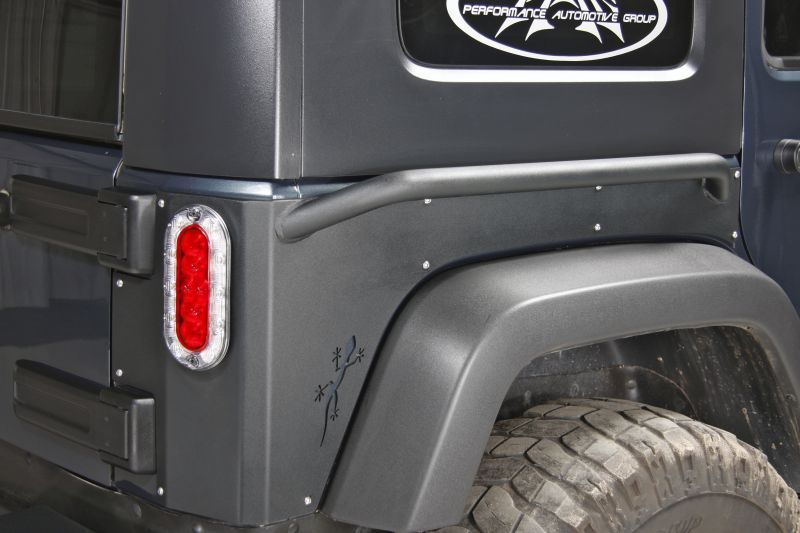 Or Fab Rear Quarter Armor With Rock Slider Jeep Parts And