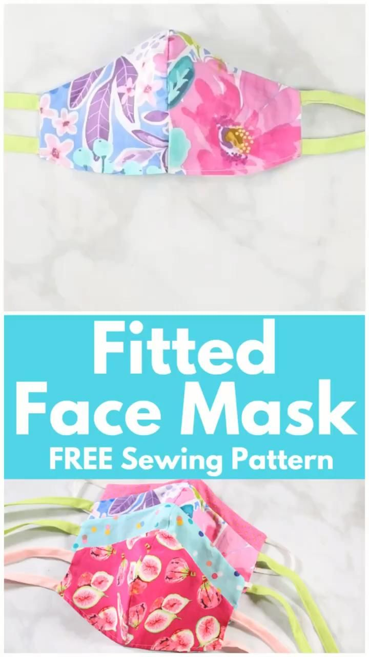 How to Sew a Fitted Surgical Face Mask | Sweet Red