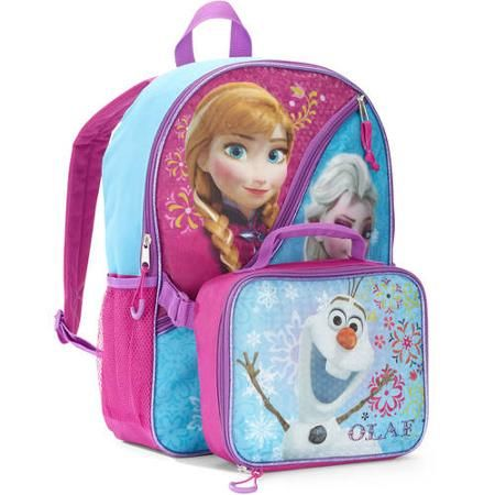 1a3ad4a58a68 Disney Frozen 16'' Elsa and Anna Kids Backpack With Detachable Lunch ...