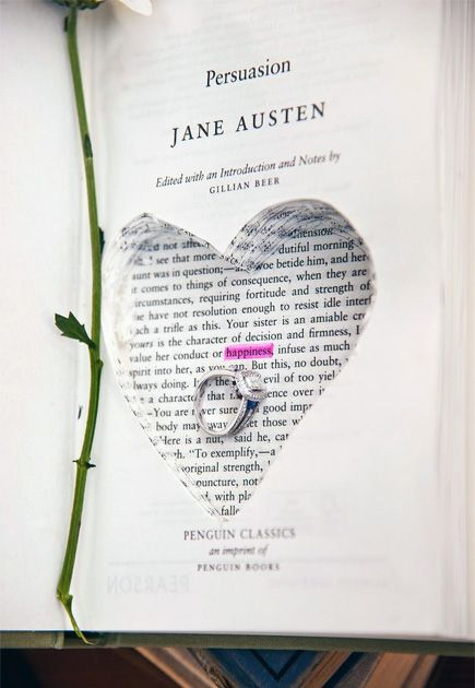 Persuasion By Jane Austen Book Ring Box Proposal Idea Confetti Co Uk