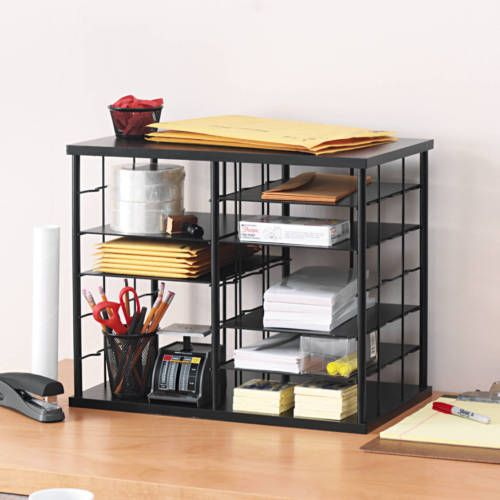 Desk Organizer Tray Office Shelf Box Pen Pencil Holder Desktop