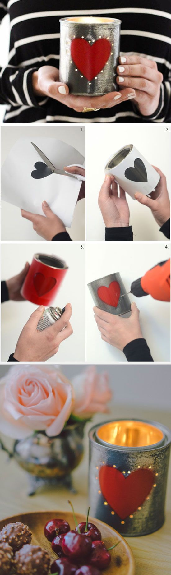 Hearty Votives | Click Pick for 26 DIY Romantic Valentines Day ...