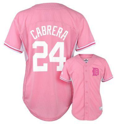 Girls 4-6x Majestic Detroit Tigers Miguel Cabrera Batting Practice MLB Jersey $13.50