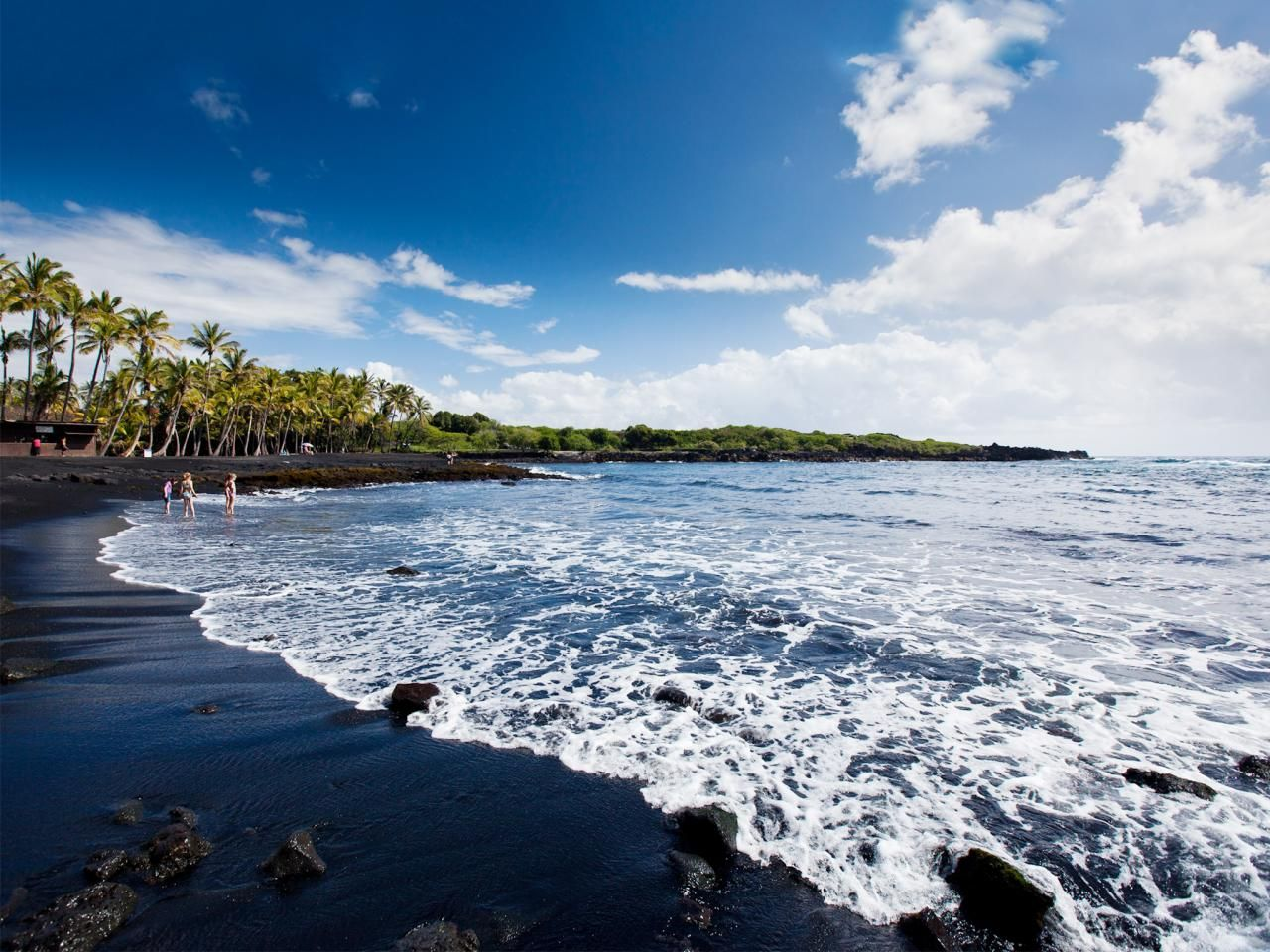 Top 10 hawaiian beaches beaches big island black sand Black sand beach hawaii