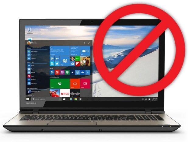 Stop Windows 10