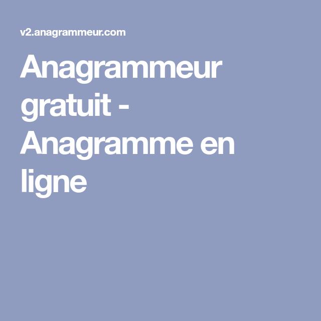 anagrammeur gratuit