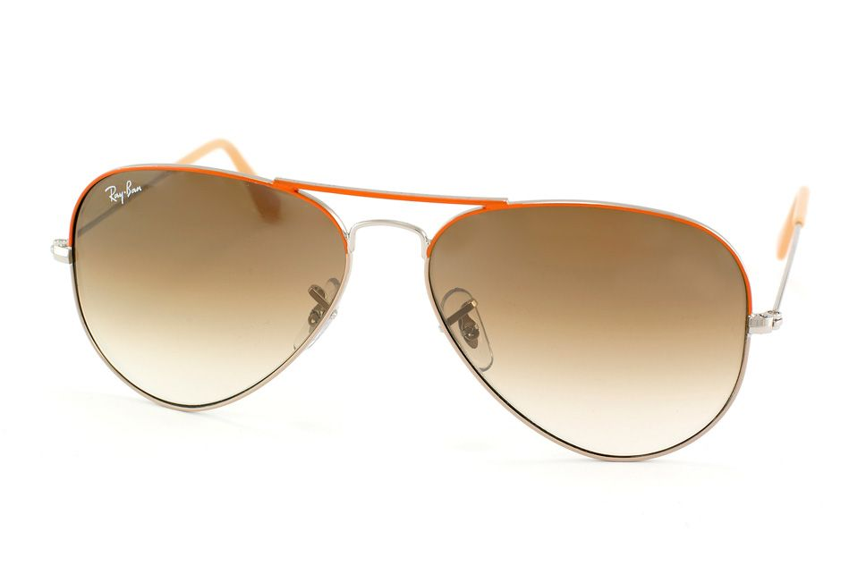 Ray-Ban RB3025 071/51. Orange & gold frame with brown gradient lens. 58mm large frame.