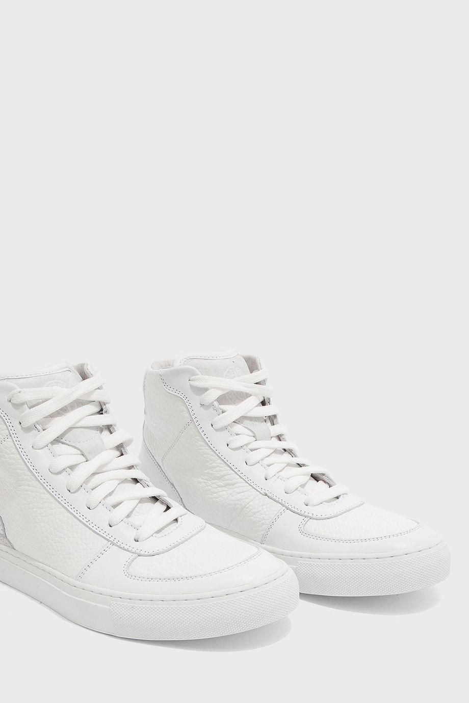 STONE ISLAND High Top Leather Trainers