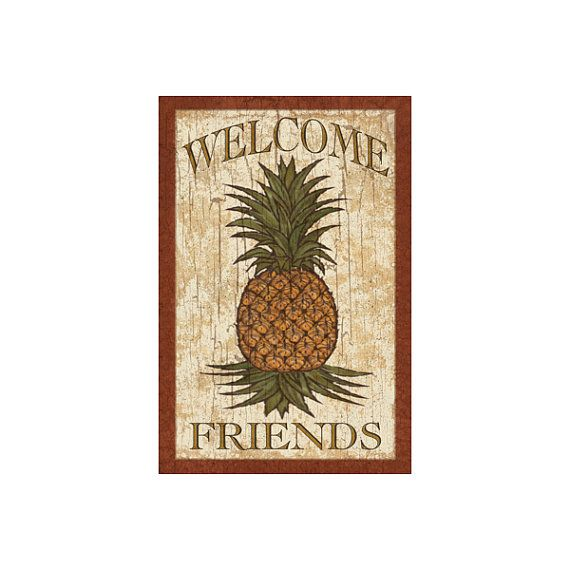 Pineapple Sign by MattsSignShop on Etsy