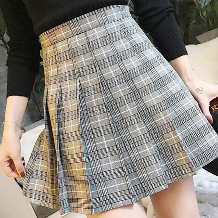 Women PLAID SKIRT/ Pleated Plaid Skirt/ Women Girl Plaid Skirt/ A Line Plaid Skirts #grayplaidskirt #silverplaidskirt #miniplaidskirt #shortplaidskirt #highwaistedplaidskirt #petitesizeplaidskirt #collegeplaidskirt #skirtoutfit #miniskirtoutfit #pleatedplaidskirt #graypleatedplaidskirt #brownplaidskirt #brownpleatedplaidskirt