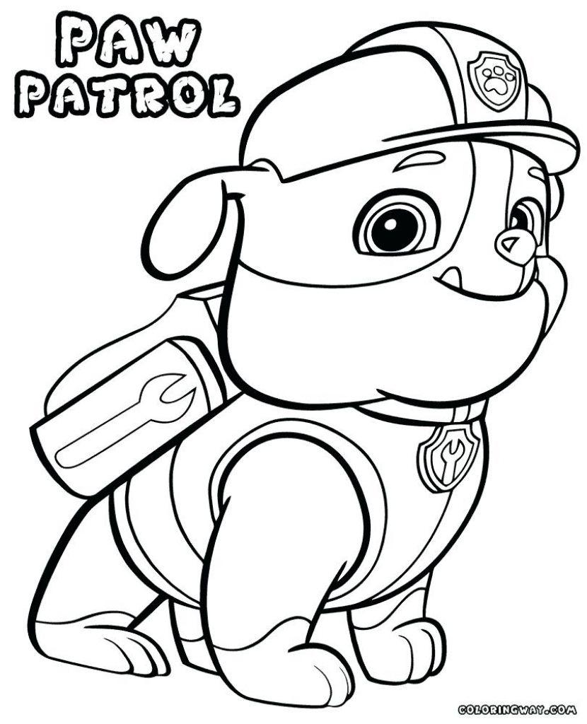 Chase Paw Patrol Coloring Page Printable Free Printable Paw Patrol