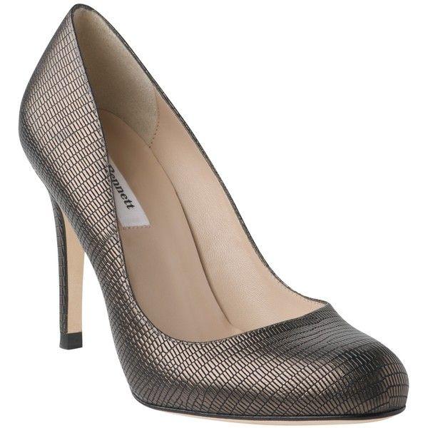 8adb17b8da L.K. Bennett L.K.Bennett Shilo Metallic Round Toe Court Shoes, Pewter ❤  liked on Polyvore