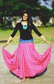 0af9151767 Image result for long skirts and top indian style | college days ...