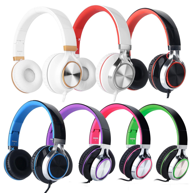 RockPapa Over Ear Foldable DJ Headphones Headsets