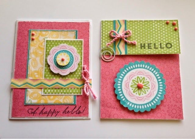 Create with Liz: A Happy Hello Cards - February Stamp of the Month