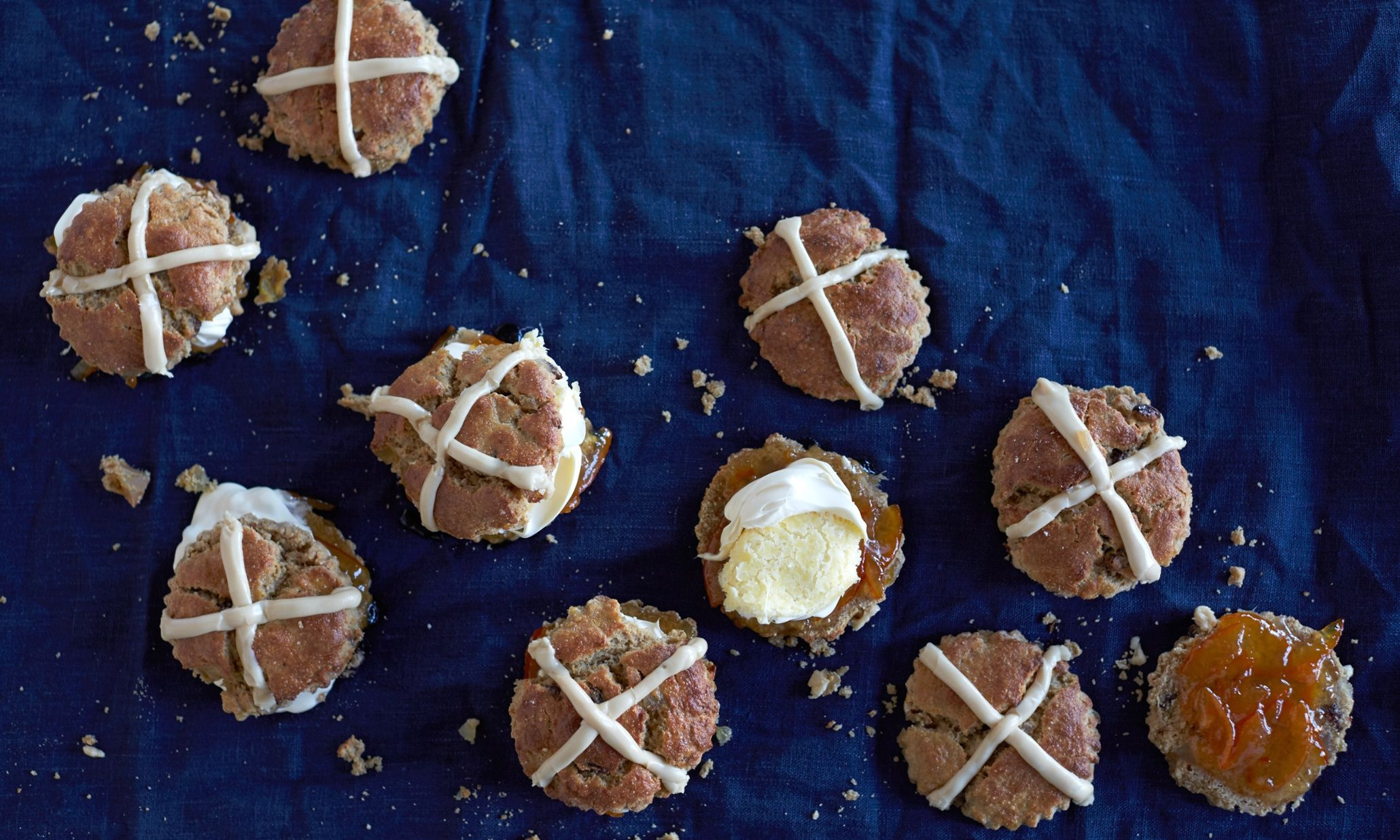 These hot-cross scones are so good they're an almost religious experience – especially apt at Easter, says The Violet Bakery's Claire Ptak