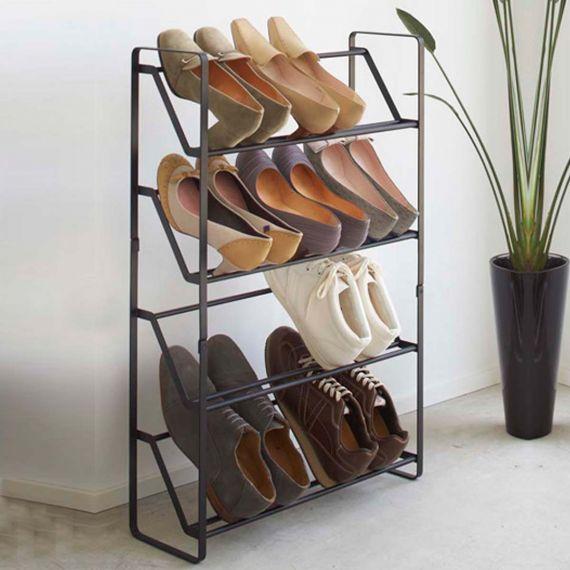 Etagere A Chaussures Pour Placard Etroit Gain De Place Table A Manger Fer Forge Meuble Fer Et Bois Etagere Chaussures