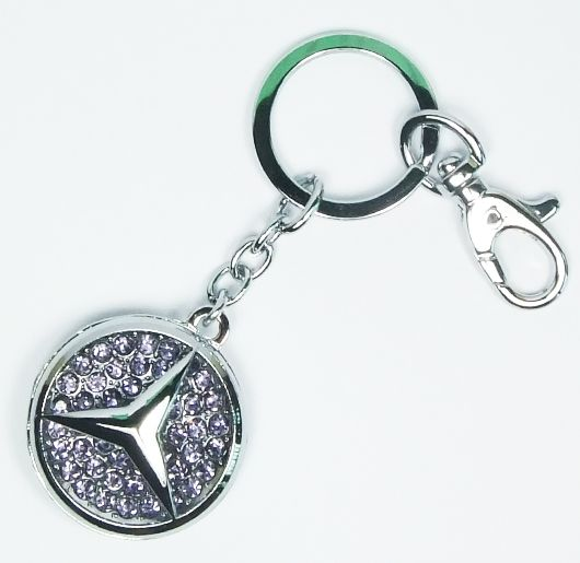Ford Mustang Key Ring Chrome Diamond Bling Purse Keychain