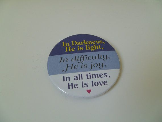 In Darkness He is Light Magnet by brendashandmade on Etsy, $2.50