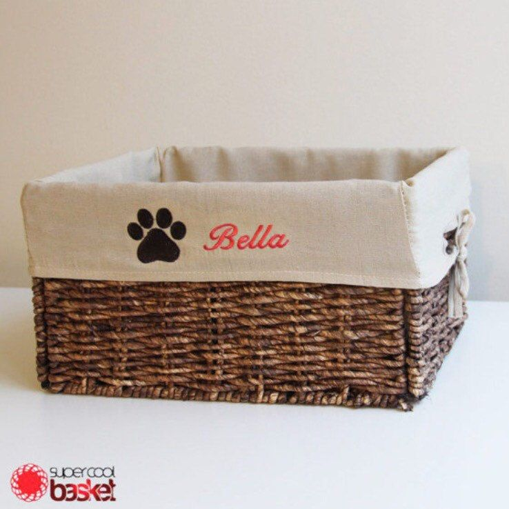 Popular Paw print on our Personalized Pet Storage Basket & Popular Paw print on our Personalized Pet Storage Basket ...