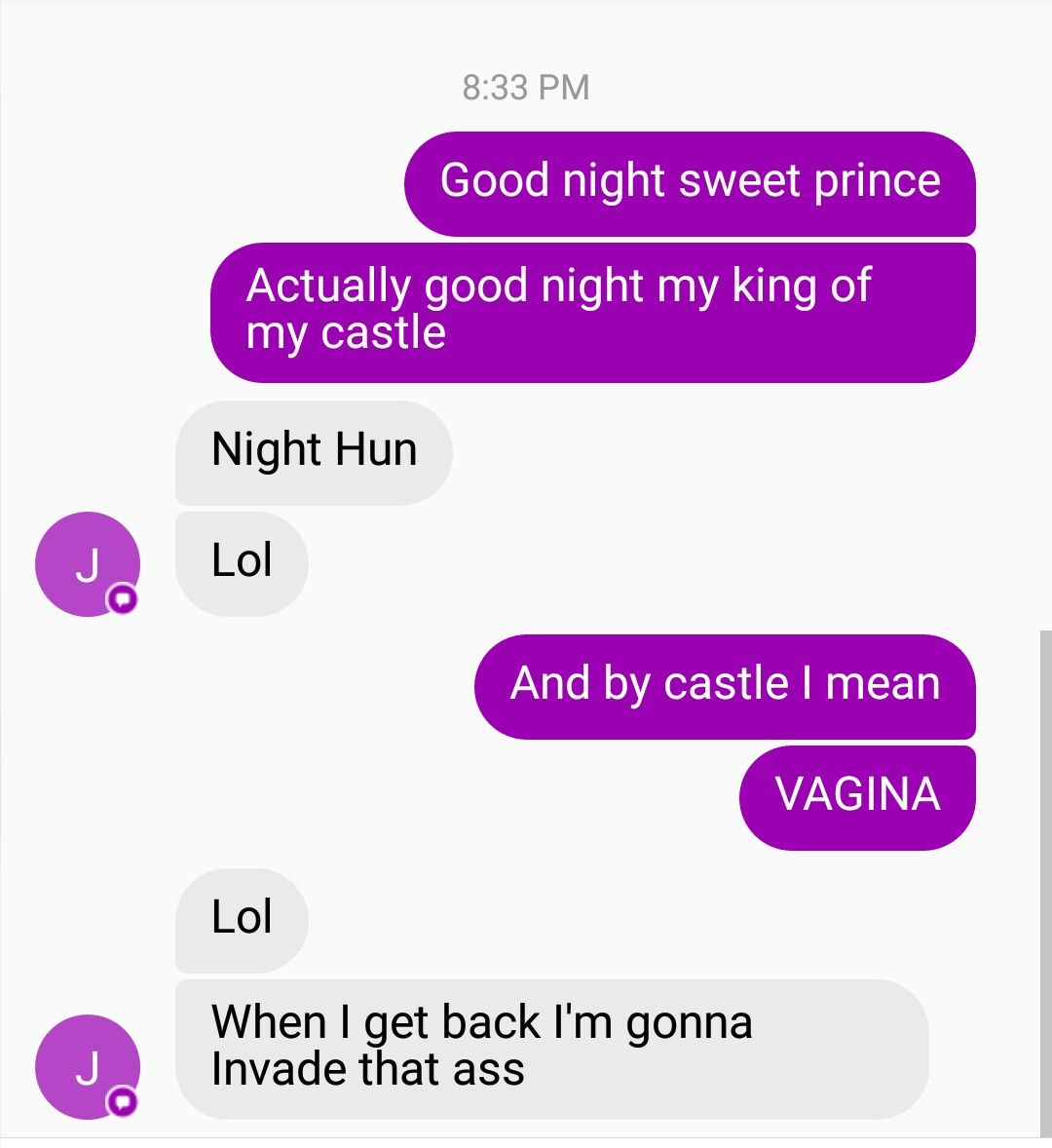 Texting my husband good night | makes me laugh | Funny