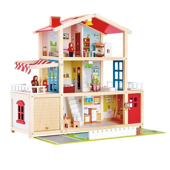 Hape   Doll Family Mansion Gender Neutral Wooden Doll House For My 3 Year  Old! #EntropyWishList #PinToWin